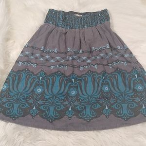 Free people fully lined cotton linen blend skirt